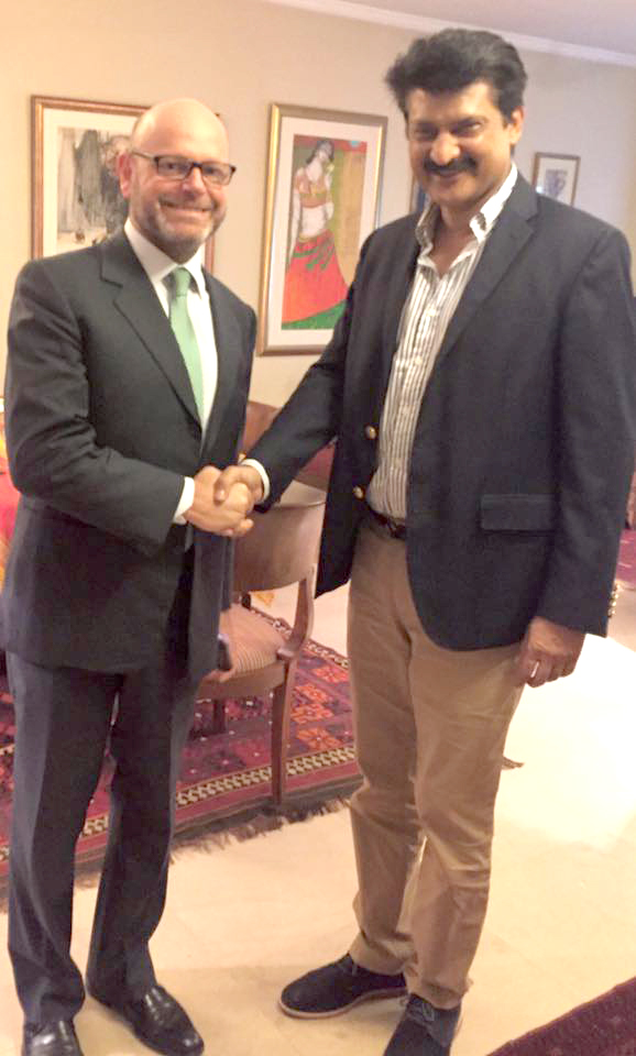 Dr Shahzad Waseem Meet Mr. Tomasso DHM Italy