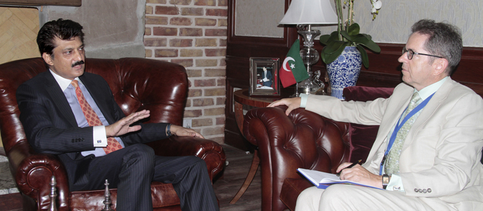 European Union Commission called on Dr Shahzad Waseem at his residence