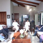 Dr Shahzad Waseem PTI Secretary Foreign Affairs receiving Canadian High Commissioner H.E Mr Calderwood who called on Chairman PTI Imran Khan at bani gala