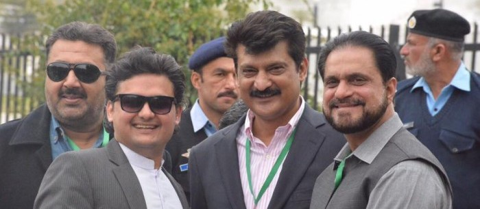 Dr Shahzad Waseem Usman Dar and Faisal Javed at Supreme Court