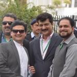 Dr Shahzad Waseem Usman Dar and Faisal Javed at Supreme Court