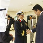 Dr Shahzad Waseem Adviser to Chairman #PTI being received by the Defense Attache upon his arrival at Saudi Embassy.