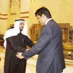 Dr Shahzad Waseem Adviser to Chairman PTI being received by Cultural Attache upon his arrival at Saudi Embassy.