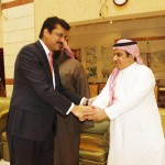 Dr Shahzad Waseem Adviser to Chairman PTI being received by officials of Saudi Embassy.