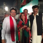 Dr Shahzad Waseem Witnessing electric atmosphere & throbbing crowd at NA122 Jalsa with Mrs. Fauzia Kasuri Faisal Javed Khan.