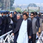 Dr Shahzad Waseem accompanying Chairman PTI Imran Khan for today's hearing of Panama case