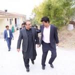Dr Shahzad Waseem and Abdul Aleem Khan at PTI Chairman Secretariat Bani Gala