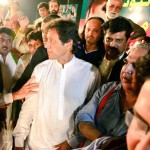 Dr Shahzad Waseem with Imran Khan at Adda Plot