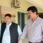 Dr Shahzad Waseem with Imran Khan Chairman PTI at Banigala
