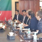 Dr Shahzad Waseem at Core Committee meeting presided by Chairman PTI Imran Khan at Bani Gala Islamabad