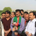 On Chairman PTI Imran Khan's direction, at F-9 park with our teams to clean park after PTI 20TH Foundation Day Jalsa. 