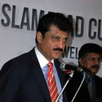 Dr Shahzad Waseem President IBSA speaking at prize distribution ceremony of 4th Islamabad Snooker Championship.