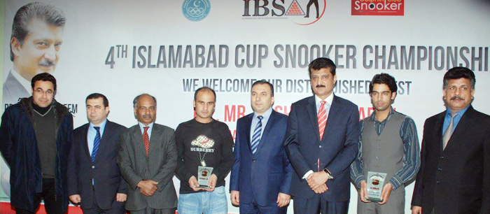 Dr Shahzad Waseem at IBSA - Islamabad Cup Snooker Championship