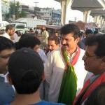 Dr Shahzad Waseem at Liaquat Bagh with Tehreek e Ahtisab Rally