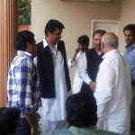 Dr Shahzad Waseem at PTI office  for polling day preparation.