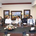 Dr Shahzad Waseem at a meeting Presided by Chairman PTI Imran Khan at Bani Gala