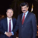 Dr Shahzad Waseem attended South Korea reception in Islamabad today. Good interaction with Ambassador Suh Dong-Gu.