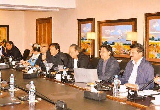 Dr Shahzad Waseem attended a meeting Presided by Chairman PTI Imran Khan