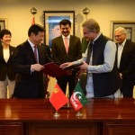 Dr Shahzad Waseem attending MOU signing between CPC and PTI to further strengthen party to party