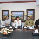 Chairman PTI Imran Khan presiding media strategy meeting at Bani gala