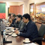 Dr Shahzad Waseem in Media Strategy meeting presiding by chairman PTI Imran Khan at Bani Gala Islamabad