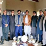 PML (N)'s MNA Mian Mazhar & MPA Mian Tariq Mehmood from Gujranwala joined PTI after meeting with Chairman PTI Imran Khan at his residence. PTI Leaders Shah Mehmood Qureshi, Jahangir Khan Tareen, Abdul Aleem Khan, Dr Shahzad Waseem & other leader were also present in the meeting.