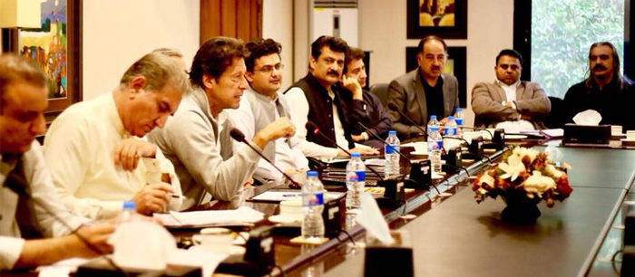 Dr Shahzad Waseem in a core group meeting presided by Imran Khan at Bani Gala - 01 - F