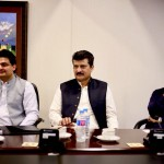 Dr Shahzad Waseem in a core group meeting presided by Imran Khan at Bani Gala.