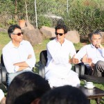 Dr Shahzad Waseem in a meeting Presided by Chairman PTI Imran Khan with 20th Foundation Day Jalsa Committee at Bani gala