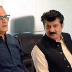 Dr Shahzad Waseem in a meeting of PTI leadership at central office in Islamabad regarding 2nd November