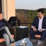 Dr Shahzad Waseem in a meeting with Chairman PTI Imran Khan at Bani Gala