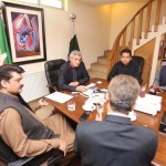 Dr Shahzad Waseem in a meeting with PTI Leaders