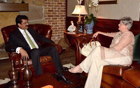 Dr Shahzad Waseem received Canadian Political Counsellor Ms Elizebath, had good exchange of views on issues of common interest.