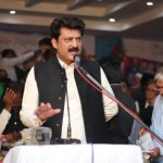 Dr Shahzad Waseem speaking in Gujar Khan Jalsa