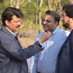 Dr Shahzad Waseem spending some quality time with colleagues in between meetings at Bani Gala
