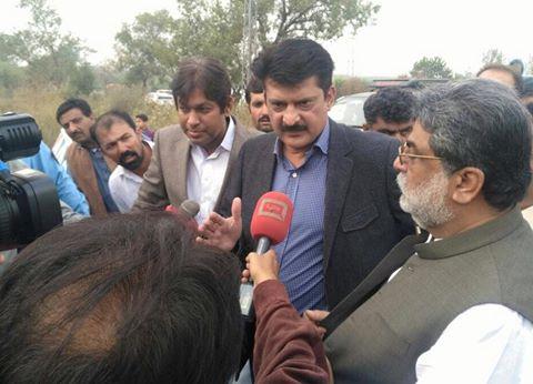 Dr Shahzad Waseem talking to Media outsite BaniGala