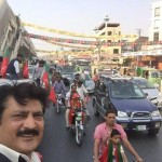 Dr Shahzad Waseem with AleemKhan, leading huge rally.