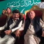 Dr Shahzad Waseem with CH M Sarwar at stage.