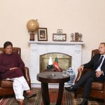 Dr Shahzad Waseem with Chairman PTI Imran Khan in a Meeting at Bani Galla