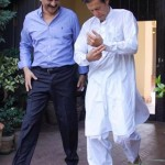 with Chairman Pakistan Tehreek-e-Insaf Imran Khan on his way for Sialkot Jalsa