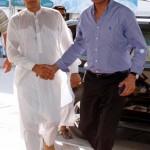 with Chairman Pakistan Tehreek-e-Insaf Imran Khan on his way for Sialkot Jalsa