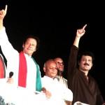 Dr Shahzad Waseem with Imran Khan PTI at Azadi Dharna Azadi Square