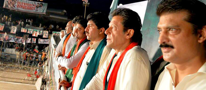 Dr Shahzad Waseem with Imran Khan in Azadi Dharna at Azadi Square