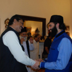 Dr Shahzad Waseem with Pir Naqeeb Ur Rehman of Eid Gah Shareef at Iftar Dinner