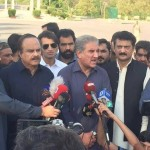 Dr Shahzad Waseem with Shah Mehmood Qureshi & Naeem ul Haq visited F-9 Park, Venue of 20th Foundation Day Jalsa of PTI