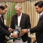 Dr Shazad Waseem with CM KPK Parvaiz Khattak Meeting Chinese Ambassador