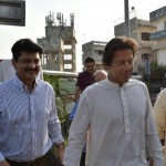 Driving Chairman Pakistan Tehreek-e-Insaf Imran Khan to airport on his way to Lahore.
