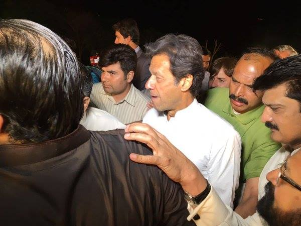 Chairman PTI Imran Khan visited venue, reviewed arrangements. All set for massive gathering at 20th Foundation Day Jalsa