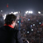 Imran Khan addressing Youm-e-Tashakkur at Parade ground