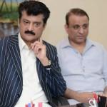 Dr Shahzad Waseem in a meeting at Secretary General PTI Jahangir Tareen residence regarding 2nd Nov Islamabad Lockdown